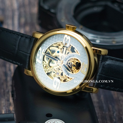 Poljot Mikhail Skeleton Latin Gold