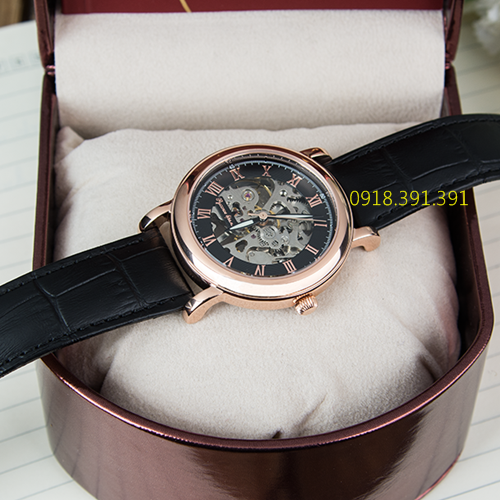Poljot Russian Time Skeleton Black