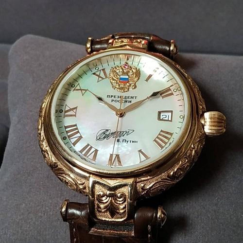 Poljot President Putin Solid Gold ETA 2824