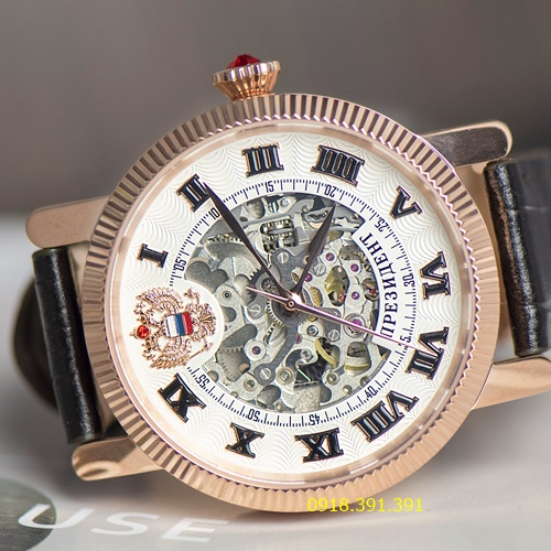 Poljot Russian Skeleton Rose Gold